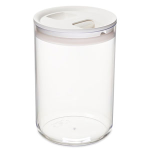 ClickClack Pantry Storage Round Container White 4ltr