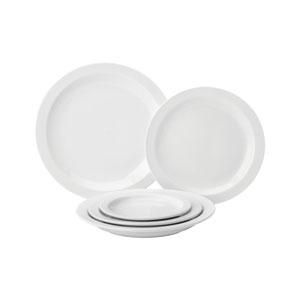 Utopia Pure White Narrow Rim Plate 10inch / 25.4cm