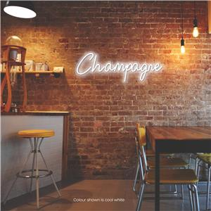 Champagne LED Neon Sign Cool White