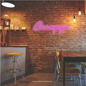 Champagne LED Neon Sign Light Pink