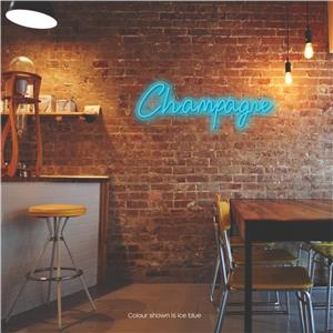 Champagne LED Neon Sign Ice Blue