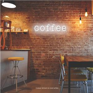 Coffee LED Neon Sign Pure White