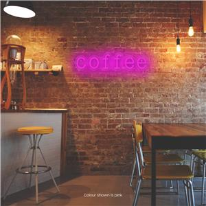 Coffee LED Neon Sign Pink