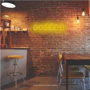 Coffee LED Neon Sign Warm Yellow