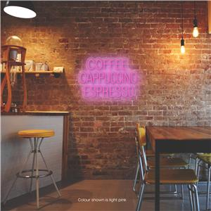 Coffee - Cappucchino - Espresso LED Neon Sign Light Pink