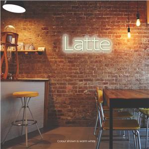 Latte LED Neon Sign Warm White