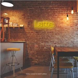 Latte LED Neon Sign Warm Yellow