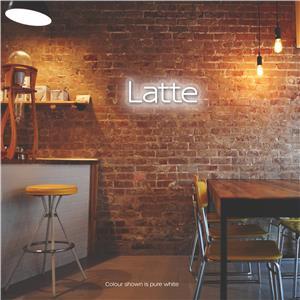 Latte LED Neon Sign Pure White