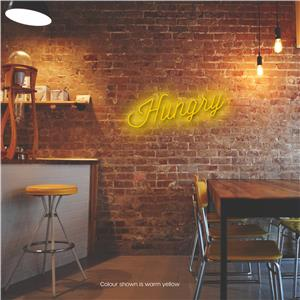 Hungry LED Neon Sign Warm Yellow
