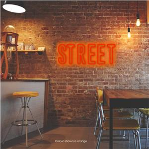 Street LED Neon Sign Warm Orange