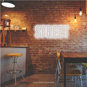 Street LED Neon Sign Warm Pure White