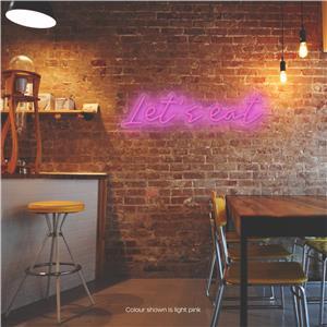 Let's Eat LED Neon Sign Light Pink