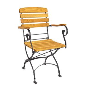 Arch Folding Arm Chair Oak