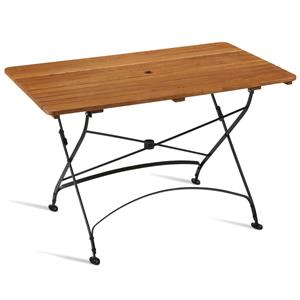 Arch Rectangular Folding Table Golden Oak