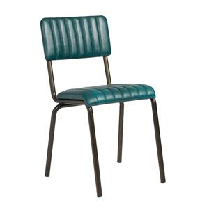 Core Side Chair Ribbed Lascari Vintage Teal