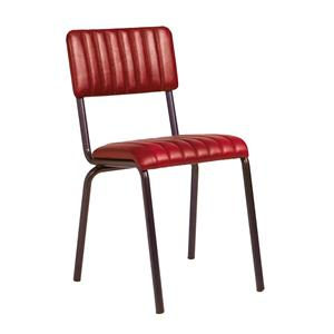 Core Side Chair  Ribbed Lascari Vintage Red