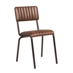 Core Side Chair Ribbed Lascari Vintage Brown