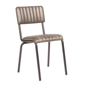 Core Side Chair Ribbed Lascari Vintage Silver