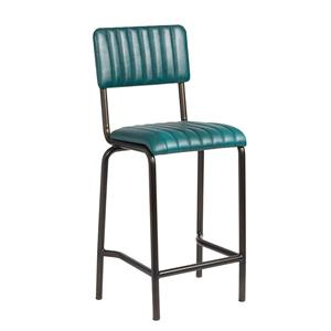 Core Mid Bar Stool Ribbed Lascari Vintage Teal