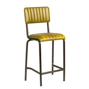 Core Mid Bar Stool Ribbed Lascari Vintage Gold