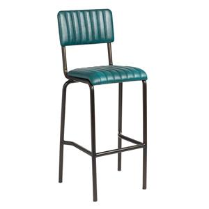 Core Bar Stool Ribbed Lascari Vintage Teal