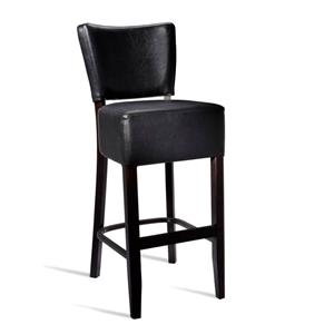 Club Bar Stool Wenge Black
