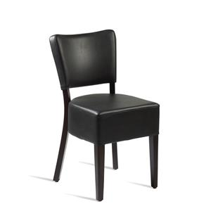 Club Side Chair Wenge Black