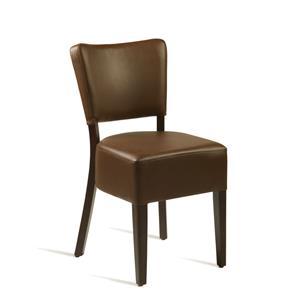 Club Side Chair Wenge Brown