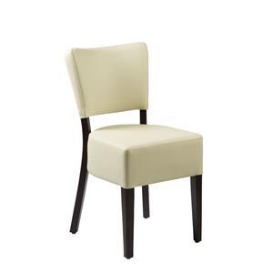 Club Side Chair Wenge Cream