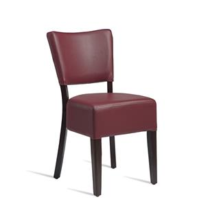 Club Side Chair Wenge Red