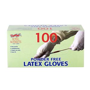 Royal Markets Powder Free Latex Gloves Large