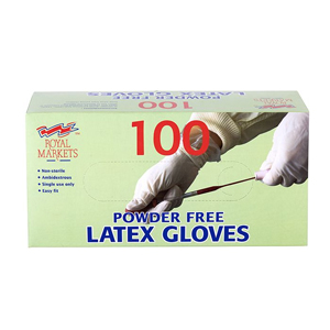Royal Markets Powder Free Latex Gloves Medium