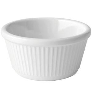 Fluted White Ramekin 4oz / 120ml