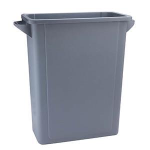 Grey Slim Recycling Bin 65ltr