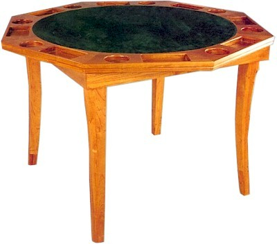 Wonderful Octagonal Wooden Poker Table With Folding Legs
