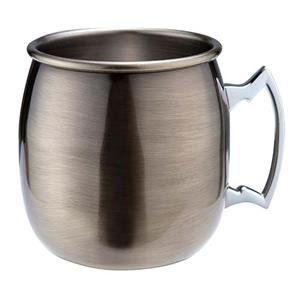 Antique Brass Plated Curved Moscow Mule Mug 17.6oz / 500ml