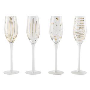 Mikasa Cheers Metallic Gold Flute Glasses 7oz / 210ml