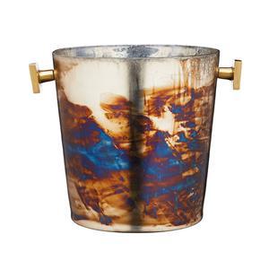 BarCraft Mercury Fire Glass Sparkling Ice Bucket