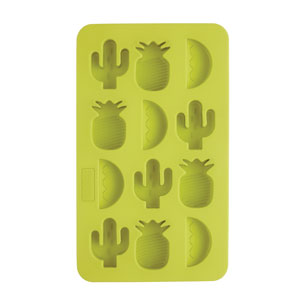 BarCraft Novelty Silicone Ice Cube Tray With Tropical Shapes