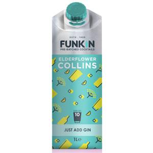 Funkin Elderflower Collins Cocktail Mixer 1ltr