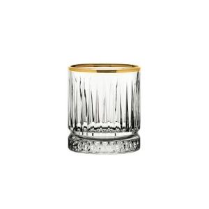 Elysia Old Fashioned Gold Rim Glasses 7oz / 210ml