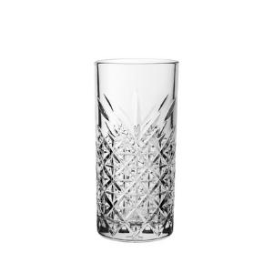 V Block Timeless Vintage Long Drink Glasses 15.75oz / 450ml