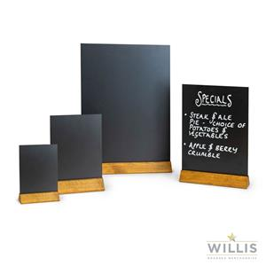 Wooden Square Top Table Talker A3 Black