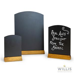 Wooden Arch Top Table Talker A4 Black