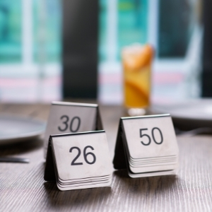 Stainless Steel Table Numbers Set 26-50