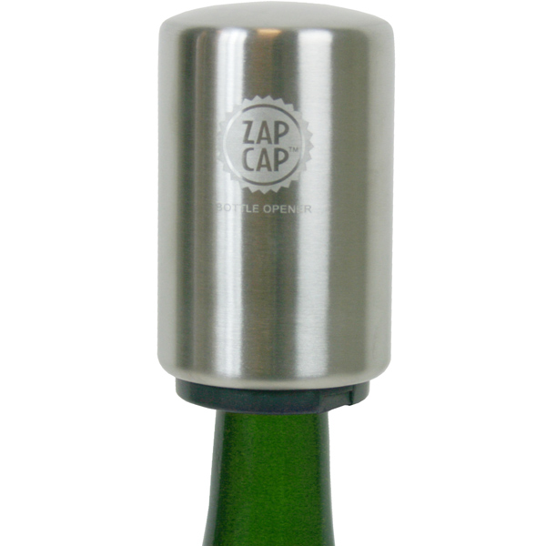 original stainless steel zap cap bottle opener drinkstuff. Black Bedroom Furniture Sets. Home Design Ideas