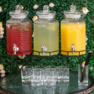 Del Sol Triple Drinks Dispenser with Stand 12ltr