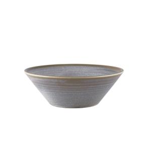 Terra Porcelain Grey Conical Bowl 19.5cm