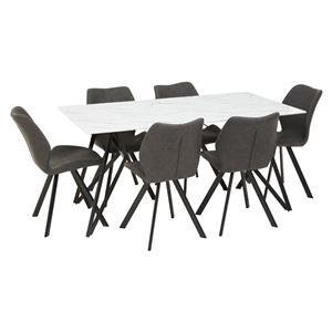 Weston Round Grey Dining Set