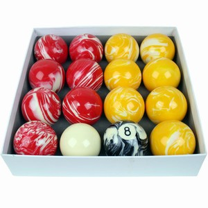 Set of Marbleised Pool Balls